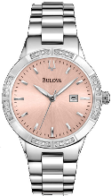 Bulova Watches- Ladies diamond watches 96R175