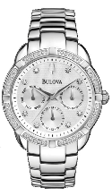 Bulova Watches- Ladies diamond watches 96R195