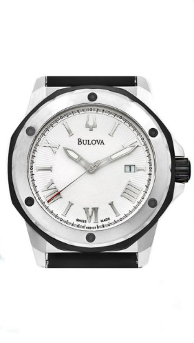 65B107 2800 Calypso Automatic Steel Mens Classic Watch Bulova Replacement Rubber Strap $59.38