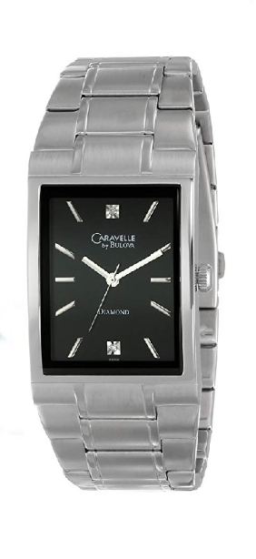 43D104 Bulova Caravelle Watch -  2485 Caravelle Diamond - Men's Diamond Watches