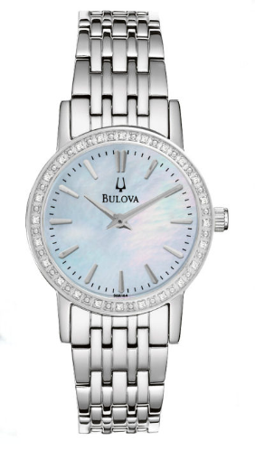 Bulova Ladies Diamond Watch extra link 96R164