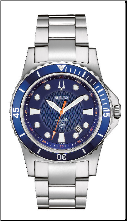 Bulova Marine Star Watch - 1278 Bulova Men's Watches 98B130 Crown