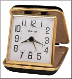 Home & Office Clocks Travel Collection - Bulova Wind Up Alarm Clock.