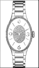 Bulova Watches- Ladies diamond watches 96R193
