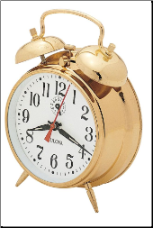 Home & Office Clocks Traditional Collection - Bulova Wind Up Alarm Clock.